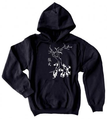 Kitsune Fire Pullover Hoodie