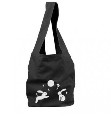Moon Bunnies Sling Bag (white/black)
