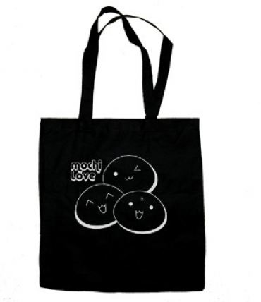 Mochi Love Tote Bag (silver/black)
