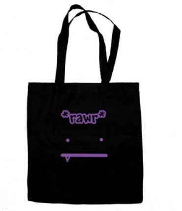RAWR Face Tote Bag (purple/black)