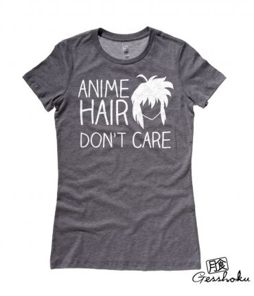 Anime Hair, Don't Care Ladies T-shirt