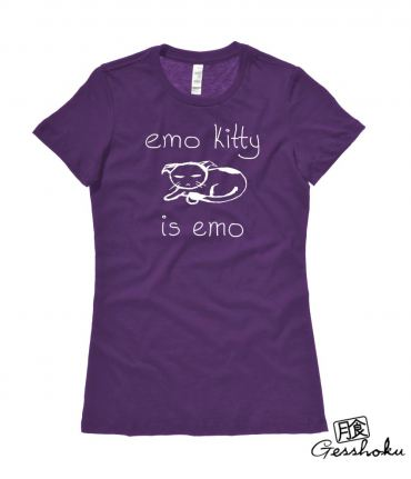 Emo Kitty Ladies T-shirt