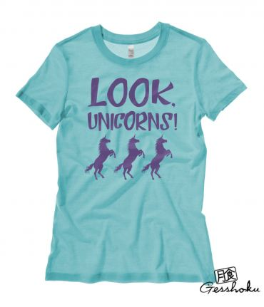 Look, Unicorns! Ladies T-shirt