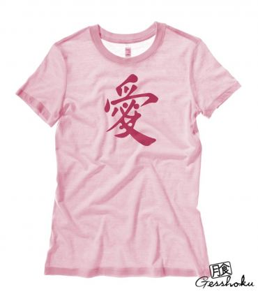 Japanese Kanji Love Ladies T-shirt