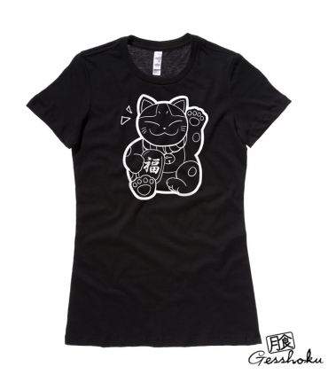 Maneki Neko Ladies T-shirt