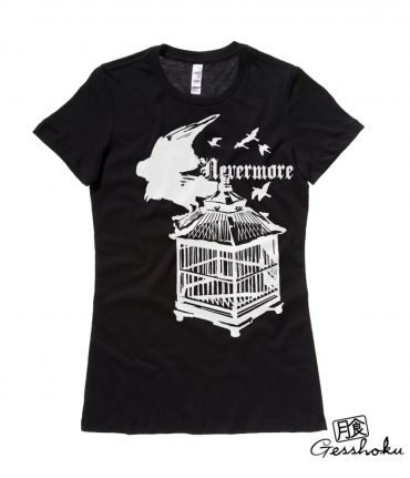 Nevermore: Raven's Cage Ladies T-shirt