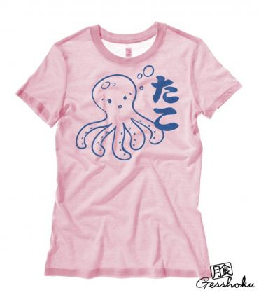 I Love TAKO - Kawaii Octopus Ladies T-shirt