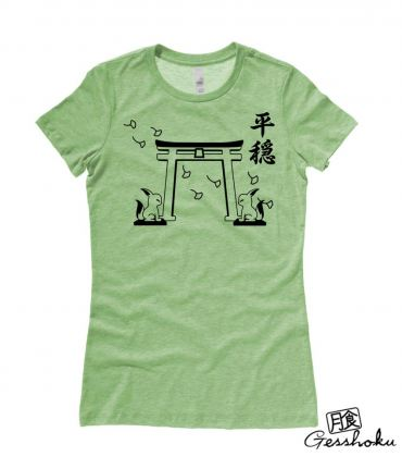 Tranquility Shrine Gate Ladies T-shirt