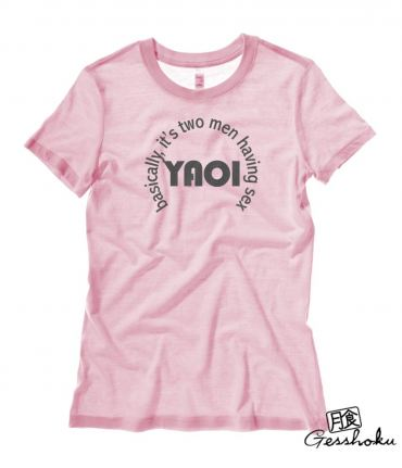 Definition of Yaoi Ladies T-shirt