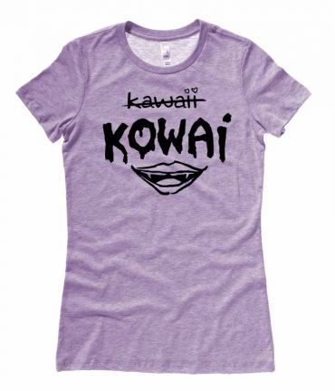 KOWAI not Kawaii Ladies T-shirt