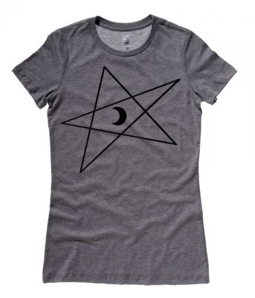 5-Pointed Moon Star Ladies T-shirt