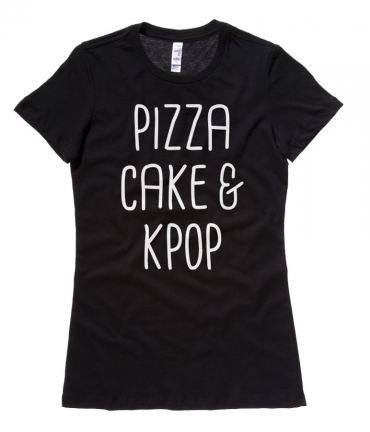 Pizza Cake & KPOP Ladies T-shirt