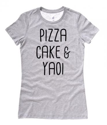 Pizza Cake & YAOI Ladies T-shirt