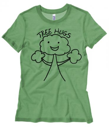 Tree Hugs Ladies T-shirt