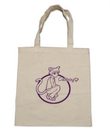 Catboys are Love Tote Bag (purple/natural)