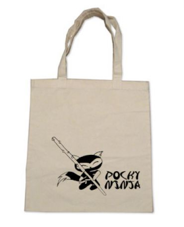 Pocky Ninja Tote Bag (black/natural)