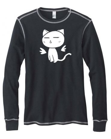 Kawaii Kitty Mens Long-Sleeve Thermal Shirt