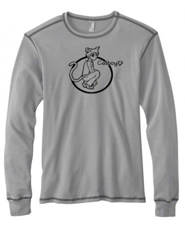 Catboy Love Mens Long-Sleeve Thermal Shirt