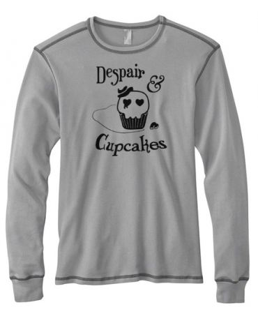 Despair and Cupcakes Mens Long-Sleeve Thermal Shirt