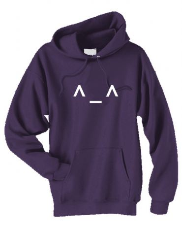 Happy ^_^ Emoticon Pullover Hoodie