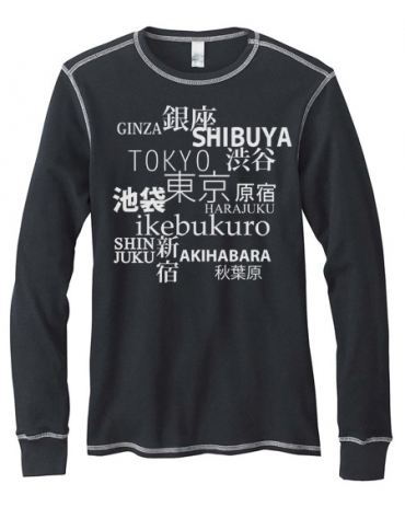 Tokyo Love Mens Long-Sleeve Thermal Shirt