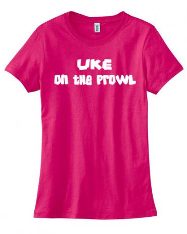 Uke on the Prowl Ladies T-shirt