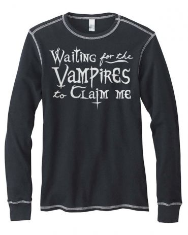 Waiting for the Vampires Mens Long-Sleeve Thermal Shirt