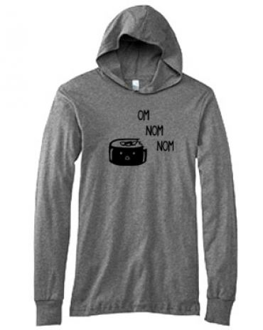 Om Nom Nom Sushi Hooded T-shirt