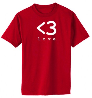 Digital Love Heart T-shirt