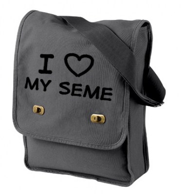 I Love my Seme Field Bag (black/dark grey)