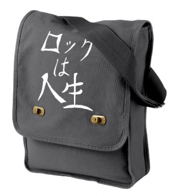 Rock is Life Field Bag (white/dark grey)