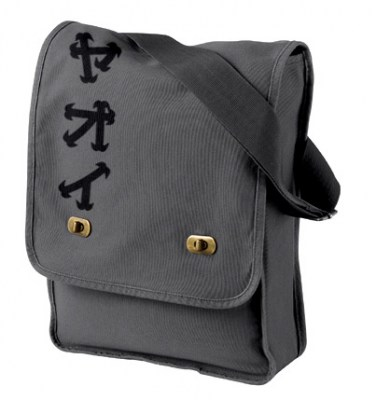 Yaoi Katakana Field Bag (black/dark grey)