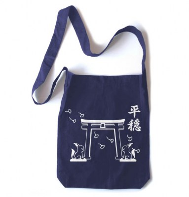 Tranquility Shrine Gate Crossbody Tote Bag