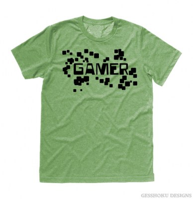 Gamer Floating Pixels T-shirt