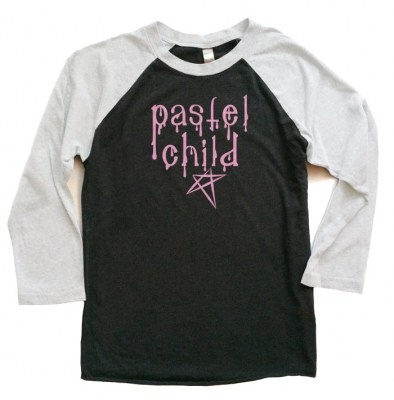 Pastel Child Raglan T-shirt 3/4 Sleeve