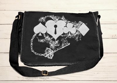 Key to My Heart Card Suit Messenger Bag