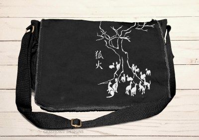 Kitsune Fire Messenger Bag