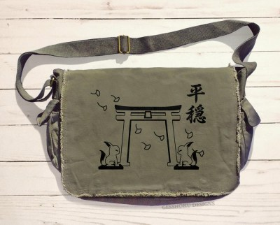 Tranquility Shrine Gate Messenger Bag