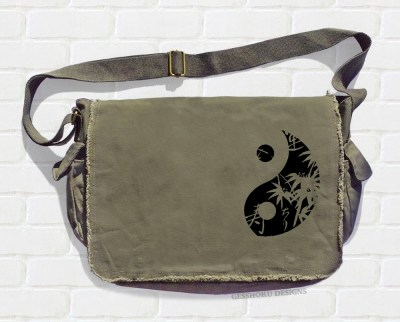 Asian Yin Yang Messenger Bag