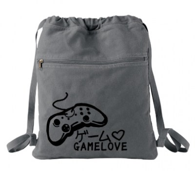 Game Love Cinch Backpack (black/grey)