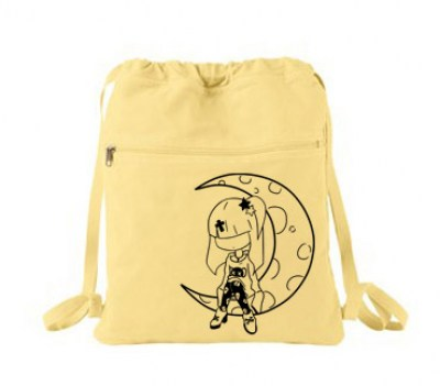 Pastel Moon Cinch Backpack