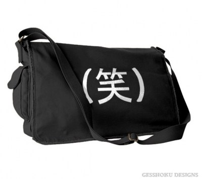 Laughing Kanji - LOL in Japanese Messenger Bag