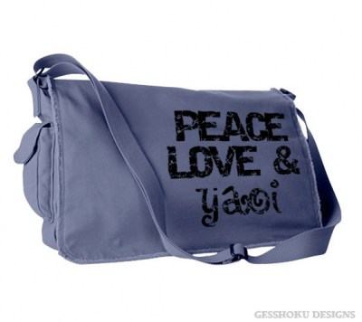 Peace Love & Yaoi Messenger Bag