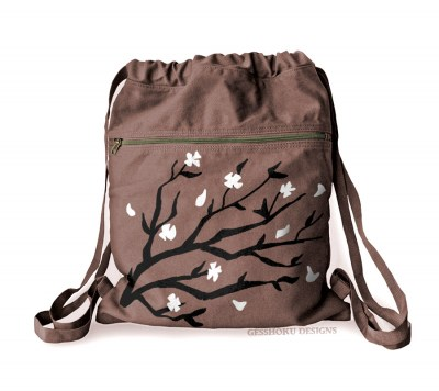 Sakura Blossoms Cinch Backpack