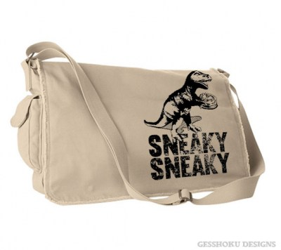 Sneaky Dino Messenger Bag