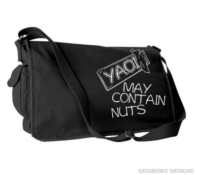 Yaoi May Contain Nuts Messenger Bag