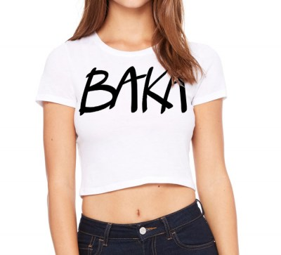 BAKA (text) Crop Top T-shirt