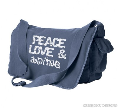 Peace Love and Anime Messenger Bag