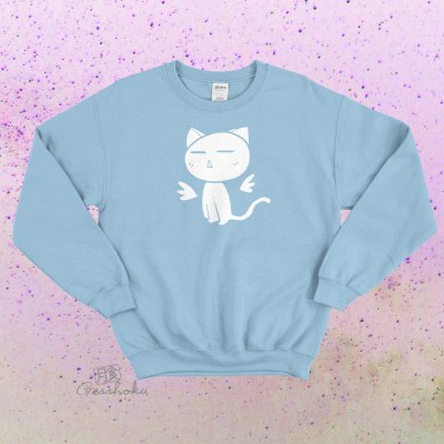 Angel Wings Kawaii Kitty Crewneck Sweatshirt