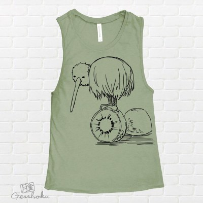 Fruity Kiwi Bird Sleeveless Top